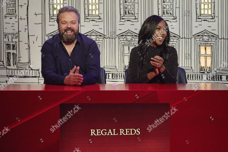 Hal Cruttenden and Angellica Bell.