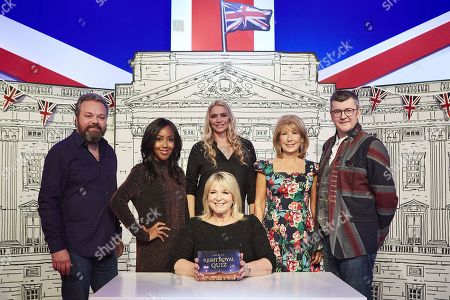 Fern Britton with Hal Cruttenden, Angellica Bell,   Jodie Kidd, Jennie Bond and Joe Pasquale.