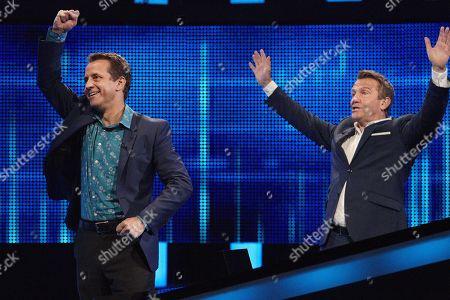 Mark Pougatch and host Bradley Walsh