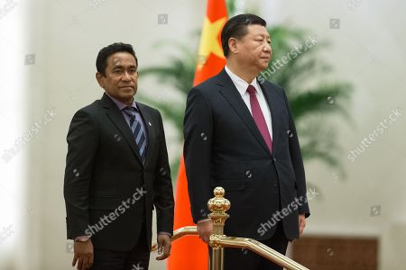 Abdulla Yameen Abdul Gayoom and Xi Jinping