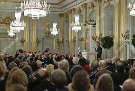 Nobel literature leaurate Kazuo Ishiguro speaks during the traditional lecture at the Royal Swedish Academy in Stockholm, Sweden, 07 December 2017. The Nobel Prize Award Ceremony and Banquet will take place on 10 December.