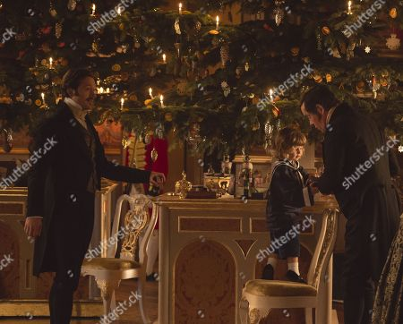 Stock Image of David Oakes as Prince Ernest and Alex Jennings as Leopold.