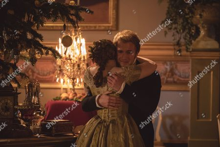 Stock Image of Bebe Cave as Wilhemina and Jordan Waller as Lord Alfred Paget.