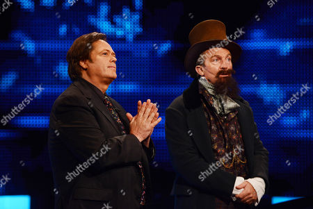 Jimmy Osmond and Bradley Walsh as Charles Dickens