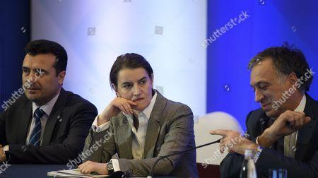 Ana Burnaby, Filip Vujanovic and Zoran Zaev