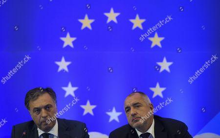 Stock Picture of Boiko Borissov and Filip Vujanovic