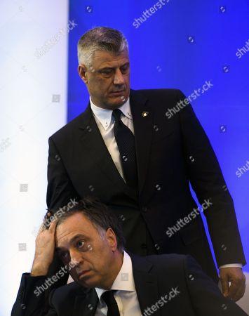 Stock Image of Filip Vujanovic and Hashim Thaci