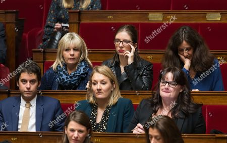 Gabriel Attal, Pascale Fontenel-Personne, Alice Thourot, Aurore Berge, Alexandra Valetta Ardisson and Elise Fajgeles
