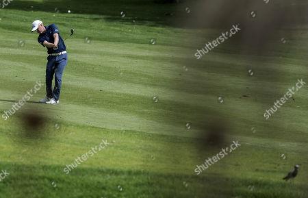 Matt Ford of England, plays a shot during day 1 of the Joburg Open Golf Tournament, at Randpark Golf Club, Johannesburg, Gauteng South Africa, 07 December 2017.