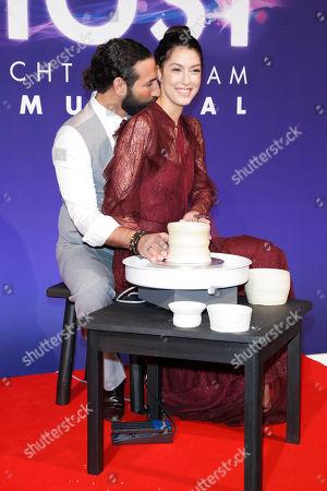 Rebecca Mir with partner Massimo Sinato