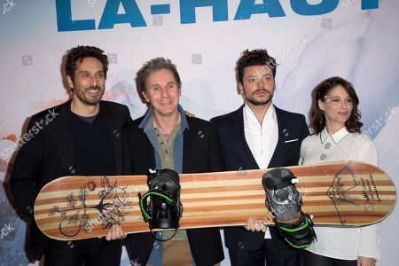 Stock Image of Vincent Elbaz, Serge Hazanavicius, Kev Adams and Melanie Bernier