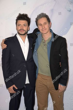 Stock Picture of Kev Adams and Serge Hazanavicius