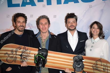 Stock Photo of Vincent Elbaz, Serge Hazanavicius, Kev Adams and Melanie Bernier