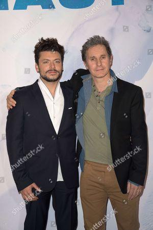 Stock Image of Kev Adams and Serge Hazanavicius