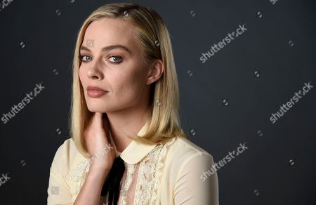 """Actress Margot Robbie, a cast member in the film """"I, Tonya,"""" poses for a portrait at The Hollywood Roosevelt Hotel in Los Angeles. The film tells the story of the disgraced figure skater Tonya Harding from youth to middle age, including the infamous assault on fellow skater Nancy Kerrigan"""