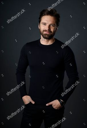 """Actor Sebastian Stan, a cast member in the film """"I, Tonya,"""" poses for a portrait at The Hollywood Roosevelt Hotel in Los Angeles. The film tells the story of the disgraced figure skater Tonya Harding from youth to middle age, including the infamous assault on fellow skater Nancy Kerrigan"""