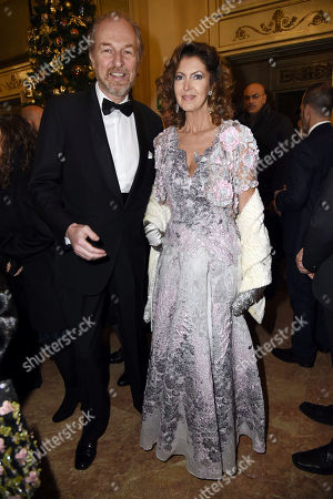 Stock Image of Arturo Artom and Alessandra Repini