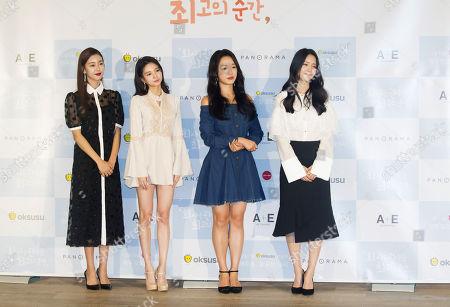 Stock Image of Ko Won-Hee, Jei Fiestar, Jung Yeon-Joo and Kim Ji-Eun