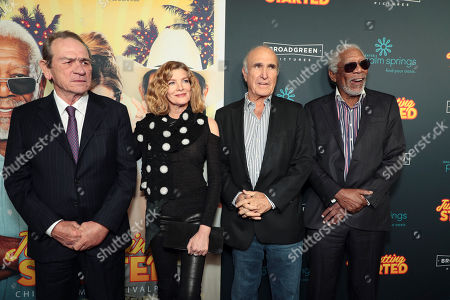Stock Picture of Tommy Lee Jones, Rene Russo, Ron Shelton, Writer/Director, Morgan Freeman