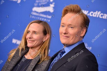 Conan O'Brien and Liza Powel O'Brien