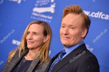 Stock Picture of Conan O'Brien and Liza Powel O'Brien