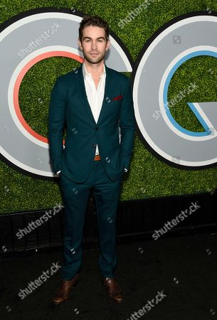 Chase Crawford arrives at the GQ Men of the Year Party at the Chateau Marmont, in Los Angeles