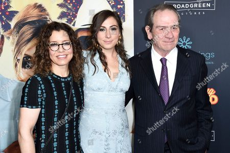 "Dawn Laurel-Jones, Victoria Jones, Tommy Lee Jones attend the LA Premiere of ""Just Getting Started"" at ArcLight Hollywood, in Los Angeles"