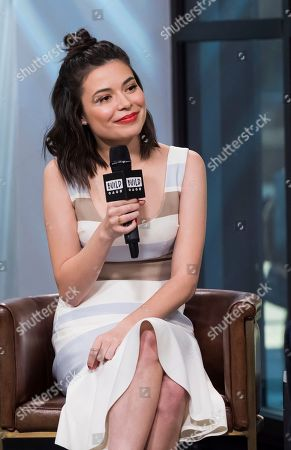 """Stock Photo of Miranda Cosgrove participates in the BUILD Speaker Series to discuss her film """"Despicable Me 3"""" at AOL Studios, in New York"""