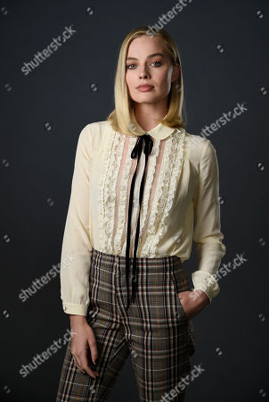 "Actress Margot Robbie, a cast member in the film ""I, Tonya,"" poses for a portrait at The Hollywood Roosevelt Hotel in Los Angeles. The film tells the story of the disgraced figure skater Tonya Harding from youth to middle age, including the infamous assault on fellow skater Nancy Kerrigan"