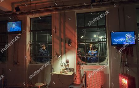 Editorial photo of 'Grimly Handsome' Play performed at the Royal Court Theatre, London, UK, 08 Dec 2017