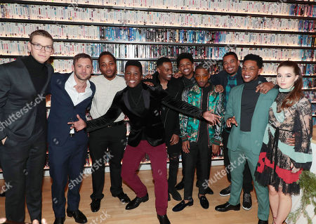 Stock Photo of Will Poulter, Austin Hebert, Leon Thomas III, Joseph David-Jones, Malcolm David Kelley, Nathan Davis Jr., Algee Smith, Laz Alonso, Jacob Latimore and Kaitlyn Dever