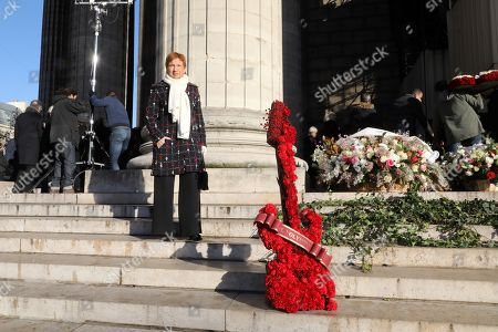 Former Medef head and IFOP Vice President Laurence Parisot stands outside the La Madeleine Church prior to the funeral ceremony in tribute to late French singer Johnny Hallyday in Paris, France, 09 December 2017. Johnny Hallyday, France's biggest rock star, has died of cancer on 06 December. He was 74.