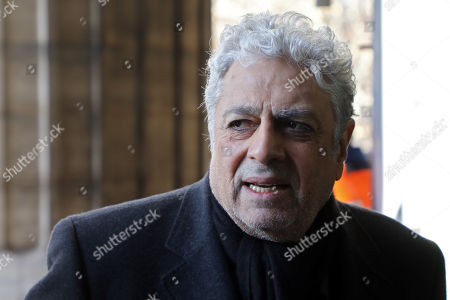 French singer Enrico Macias arrives at the La Madeleine Church prior to the funeral ceremony in tribute to late French singer Johnny Hallyday in Paris, France, 09 December 2017. Johnny Hallyday, France's biggest rock star, has died of cancer on 06 December. He was 74.