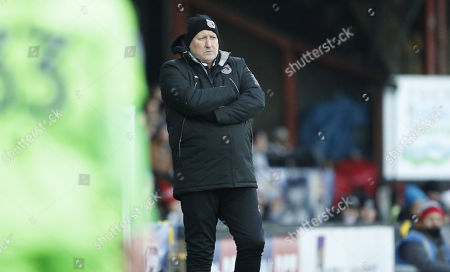 Russell Slade Manager of Grimsby Town during the EFL Sky Bet League 2 match between Grimsby Town FC and Forest Green Rovers at Blundell Park, Grimsby