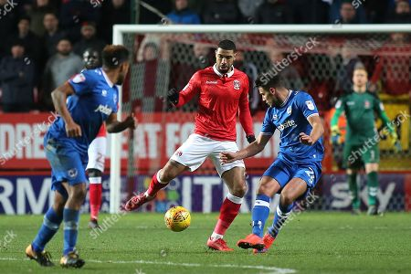Leon Best of Charlton Athletic in action during Charlton Athletic vs Portsmouth, Sky Bet EFL League 1 Football at The Valley on 9th December 2017