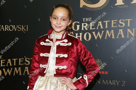 """Austyn Johnson attends as Cunard Hosts the World Premiere of 20th Century Fox's """"The Greatest Showman"""" on board Queen Mary 2, in Brooklyn, N.Y. This is the first ever major motion picture premier to take place on board a passenger ship"""