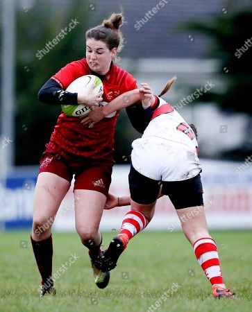 Munster vs Ulster. Munster's Rachel Allen is tackled by Beth Cregan of Ulster