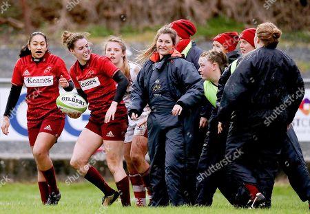 Munster vs Ulster. Munster's Rachel Allen celebrates scoring a try