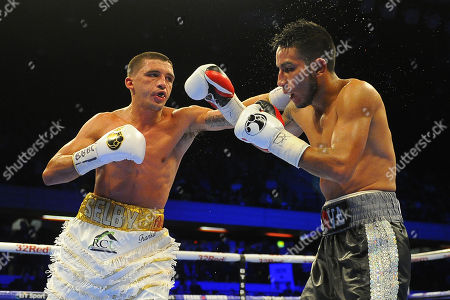 Lee Selby (white shorts) defeats Eduardo Ramirez to win the IBF World Featherweight Title during a Boxing Show at the Copper Box Arena on 9th December 2017