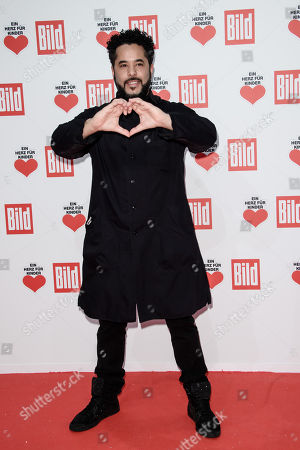 German singer Adel Tawil poses as he arrives for the charity gala 'Ein Herz fuer Kinder' (A Heart for Children) in Berlin, Germany, 09 December 2017. German television channel ZDF and newspaper 'Bild' collected donations for children's charity organizations in Germany and the whole world.