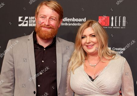 British producer Hugh Welchman (L) and Polish director Dorota Kobiela (R) arrives on the red carpet for the 30th European Film Awards, in Berlin, Germany, 09 December 2017.  The nominations and winners are selected by more than 2,500 members of the European Film Academy.