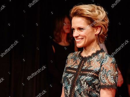 Belgian actress and singer Veerle Baetens arrives on the red carpet for the 30th European Film Awards, in Berlin, Germany, 09 December 2017.  The nominations and winners are selected by more than 2,500 members of the European Film Academy.