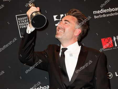 British director William Oldroyd poses with the European discovery - Prix FIPRESCI award at the 30th European Film Awards, in Berlin, Germany, 09 December 2017.  The nominations and winners are selected by more than 2,500 members of the European Film Academy.