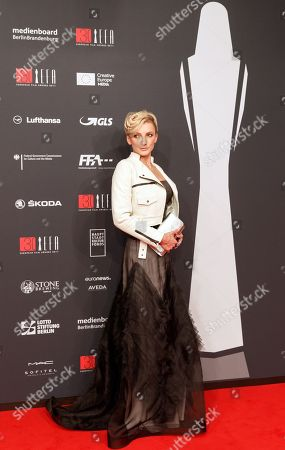 Hungarian actress Alexandra Borbely arrives on the red carpet for the 30th European Film Awards, in Berlin, Germany, 09 December 2017.  The nominations and winners are selected by more than 2,500 members of the European Film Academy.