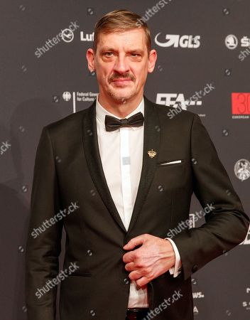 Stock Image of Belgian director Peter Van Den Begin arrives on the red carpet for the 30th European Film Awards, in Berlin, Germany, 09 December 2017.  The nominations and winners are selected by more than 2,500 members of the European Film Academy.
