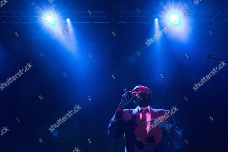 Editorial photo of Maxi Jazz & the E-Type Boys in concert at the SEC Armadillo, Glasgow, Scotland, UK - 9th December 2017