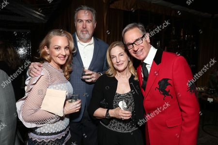 Stock Photo of Wendi McLendon-Covey, Greg Covey, Laurie Feig and Paul Feig