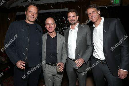 Vince Vaughn, Amazon CEO Jeff Bezos, Mark Boal and Amazon SVP of Business Development Jeff Blackburn