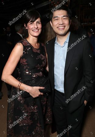 Sharon Tal Yguado and Amazon Studios Head Albert Cheng
