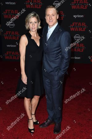 "Alan Tudyk, Charissa Barton. Alan Tudyk and Charissa Barton arrive at the Los Angeles premiere of ""Star Wars: The Last Jedi"" at the Shrine Auditorium on in Los Angeles"